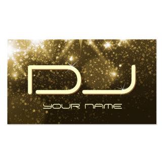 Étincelles d'or de charme - partie DJ Carte De Visite Standard