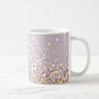 Étincelles en pastel molles de Bokeh Mug
