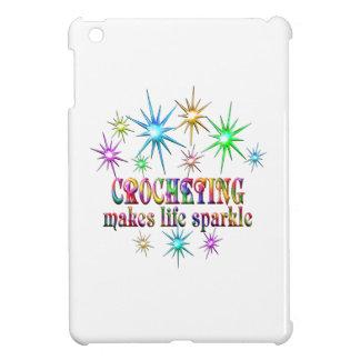 Étincelles faisantes du crochet coques iPad mini