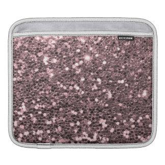 Étincelles roses de parties scintillantes de Faux Housse iPad