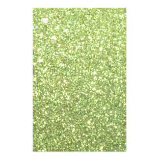 Étincelles vert clair de scintillement prospectus 14 cm x 21,6 cm