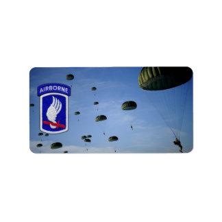 Étiquette 173rd Vétérinaires de soldats de ciel de brigade