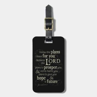 Étiquette À Bagage 29:11 de Jérémie je sais les plans que je prends