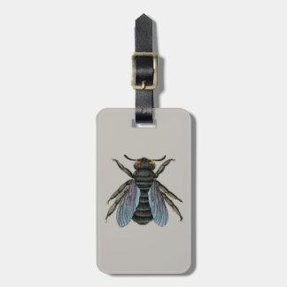 Étiquette À Bagage abeille vintage