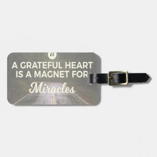 Étiquette À Bagage Aimant reconnaissant de miracle de coeur