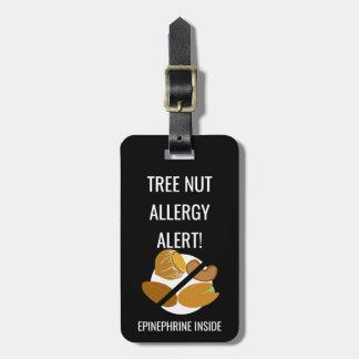 Étiquette À Bagage Alerte d'allergie de noix d'enfants avec l'image