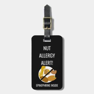 Étiquette À Bagage Alerte d'allergie d'écrou d'enfants avec l'image