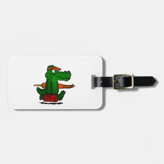 Étiquette À Bagage Alligator allant à la plage