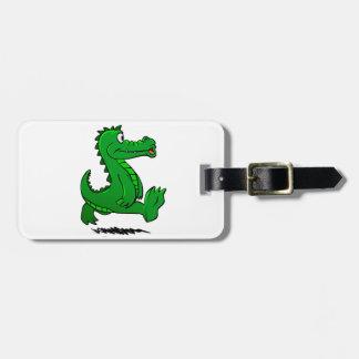 Étiquette À Bagage Alligator courant