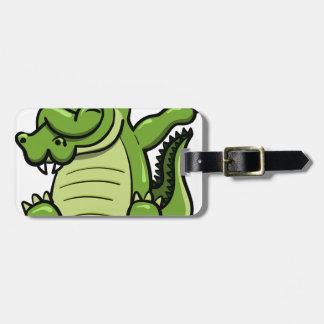 Étiquette À Bagage Alligator tamponnant d'animaux