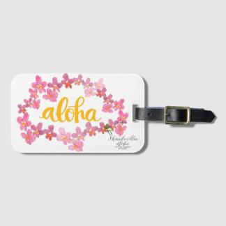 Étiquette À Bagage Aloha étiquette audacieuse de sac de Lei