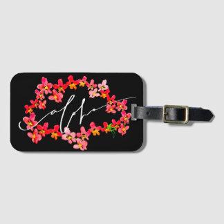 Étiquette À Bagage Aloha étiquettes de bagage de Lei d'orchidée