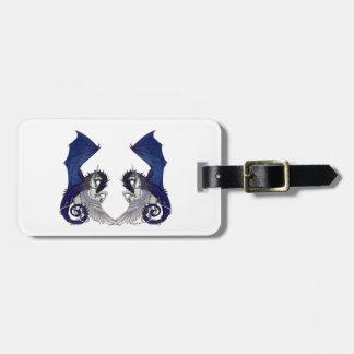 Étiquette À Bagage Amants de licorne et de mariage de dragon