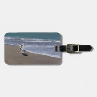 Étiquette À Bagage Amis de plage de pélican