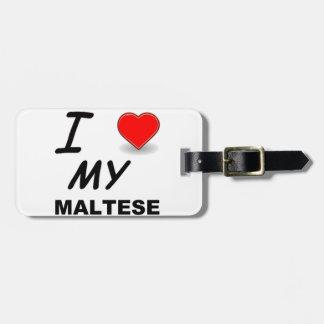 Étiquette À Bagage amour maltais