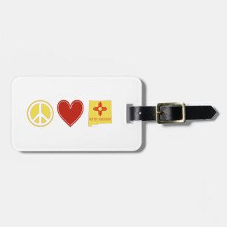 Étiquette À Bagage Amour Nouveau Mexique de paix