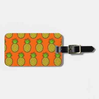 Étiquette À Bagage Ananas oranges tropicaux
