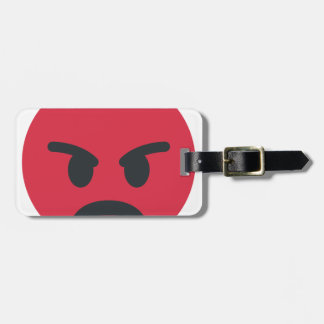 Étiquette À Bagage Angry Emoji