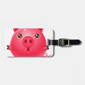 Étiquette À Bagage animal du bébé 00079Pig dans le style doux Girly