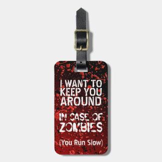 Étiquette À Bagage Apocalypse drôle des zombis | vous courez lent