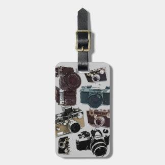 Étiquette À Bagage appareil-photo affligé de photographie de