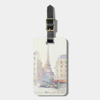 Étiquette À Bagage Aquarelle de Tour Eiffel | Paris