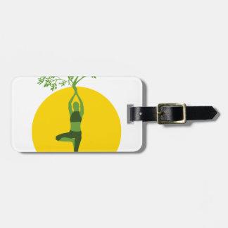 Étiquette À Bagage Arbre vert de yoga