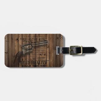 Étiquette À Bagage arme à feu rustique de pays occidental de cowboy