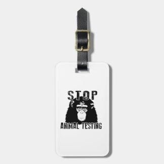 Étiquette À Bagage Arrêtez l'expérimentation animale - chimpanzé