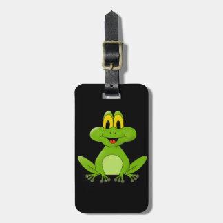 Étiquette À Bagage Arrière - plan animated mignon de grenouille