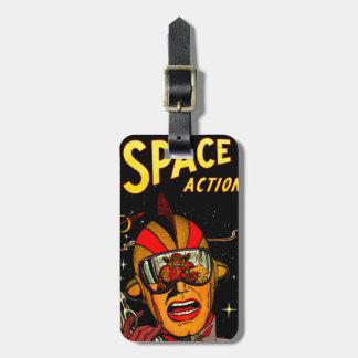 Étiquette À Bagage Art comique d'astronaute de la science fiction
