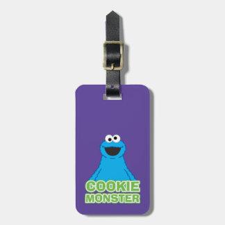 Étiquette À Bagage Art de caractère de monstre de biscuit