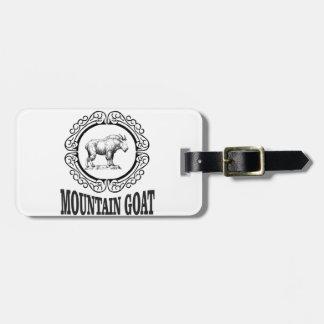 Étiquette À Bagage art de chèvre de montagne