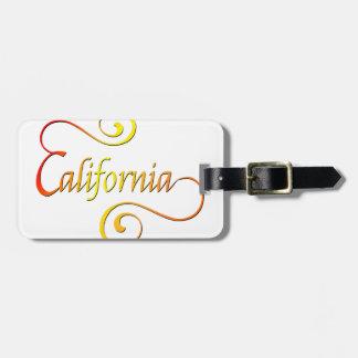 Étiquette À Bagage Art de typographie de la Californie