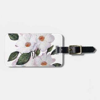 """Étiquette À Bagage Art floral de la ballerine des roses"""""""