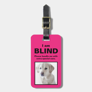 Étiquette À Bagage [Au sujet de mon chien] chien sourd de chat