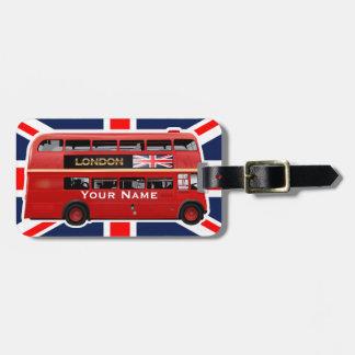 Étiquette À Bagage Autobus à impériale rouge de Londres