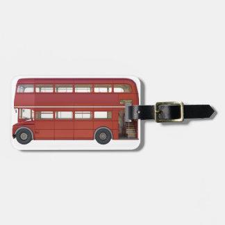 Étiquette À Bagage Autobus de rouge de double Decker