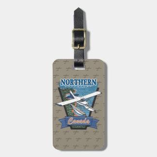 Étiquette À Bagage Aventure du nord Canada d'aviation