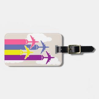 Étiquette À Bagage Avions colorés
