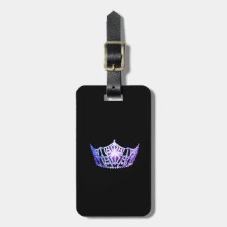 Étiquette À Bagage Bagage de couronne de lavande de Mlle Amérique