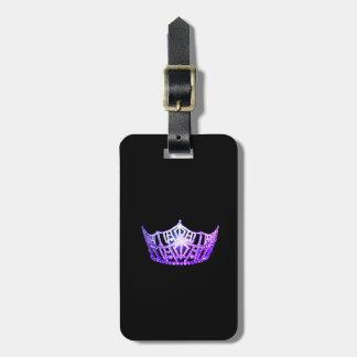 Étiquette À Bagage Bagage pourpre de couronne de Mlle Amérique