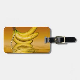 Étiquette À Bagage Bananes jaunes mûres