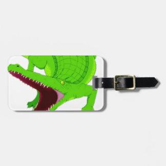 Étiquette À Bagage bande dessinée d'alligator