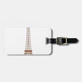 Étiquette À Bagage Bande dessinée de Tour Eiffel