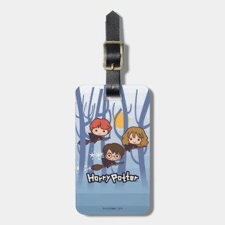 Étiquette À Bagage Bande dessinée Harry, Ron, et vol de Hermione en