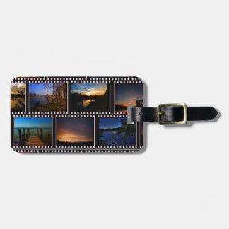 Étiquette À Bagage Bandes colorées de film