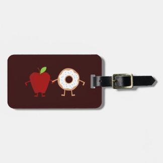 Étiquette À Bagage Beignet d'Apple