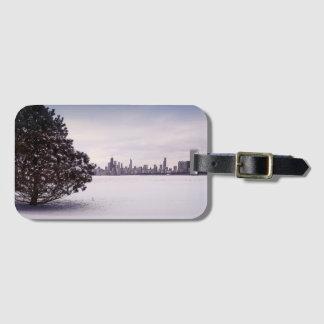 Étiquette À Bagage bel hiver Chicago - étiquette de bagage