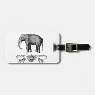Étiquette À Bagage bête grise d'éléphant